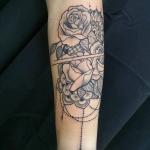 floral   dermographink chambery tatouage