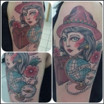néo traditionnel, tatouage , tattoo , gitane, bodyperfect tattoo , chambery, dermographink