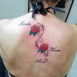 rose,couleur,  tatouage  chambery , savoie, dermographink, reyes