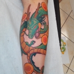 shenron dragon, shenron tattoo, dragon tattoo, couleur color dermographink chambery , savoie